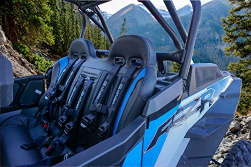 RZR 4 1000 & RZR 4 900 (2015-2020) Rear Bench Seat   RZR 4 1000 2014-2020 Turbo   Dynamix   XP (Black & Blue)   INCLUDES: 3 4-Point Harnesses