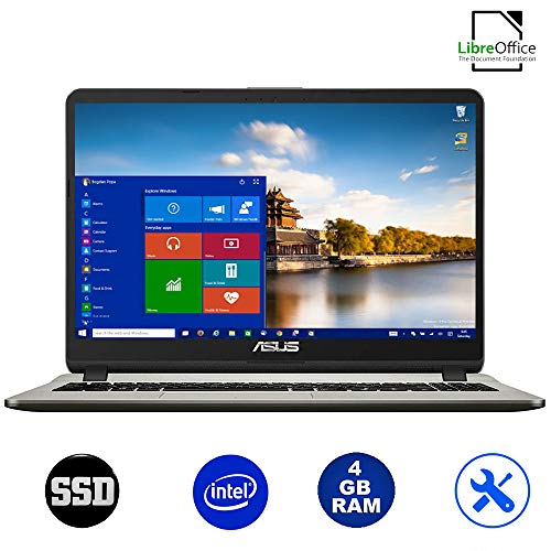 ASUS VivoBook Ordinateur Portable 15.6 ,AMD A4-9125 2,60 GHz,RAM 4 Go,Ssd 256 Go,Radeon R3 Graphic, Windows 10 Professional,Bureau,USB 3.0/WiFi/,Clavier QWERTY