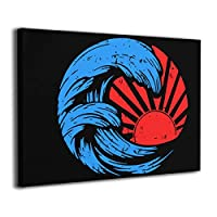 絵画 ポスター 30 * 40 Cm 日本の大波 Japanese Great Wave ポスター おしゃれ インテリア 壁の絵 飾り ウォールデコ おしゃれ お風呂の装飾 キャンバスアート アート油画 パネル ャンバス