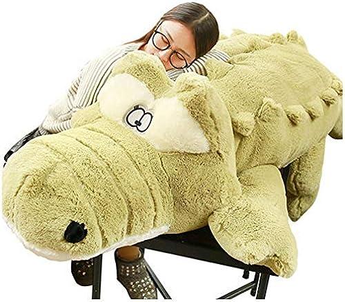 LAIBAERDAN Plüschtier Größe Krokodil Plüschpuppe Schlafkissen Puppe Geburtstagsgeschenk 60-90-110-130Cm, 110Cm