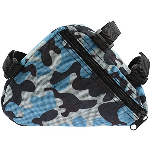 RUKEY Bicycle Cycling Triangle Frame Bag minimizes Wind-Resistance(Camouflage Gree) (Camouflage Blue)