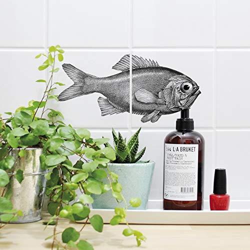 Boubouki - Wasserabweisende Fliesenaufkleber für Bad und Küche - Fliesen-Aufkleber, Kacheln in allen gängigen Größen - Fred Poster - 15x15cm, Transparent