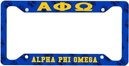 Greekgear Alpha Phi Omega Custom License Plate Frame