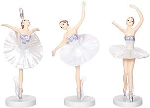 VICASKY 3PCS Bailarina Dancer Ballet Dancing Girl Figurinhas Estátuas Desktop Ornamento Estátua Escultura Art Home Decoraç...