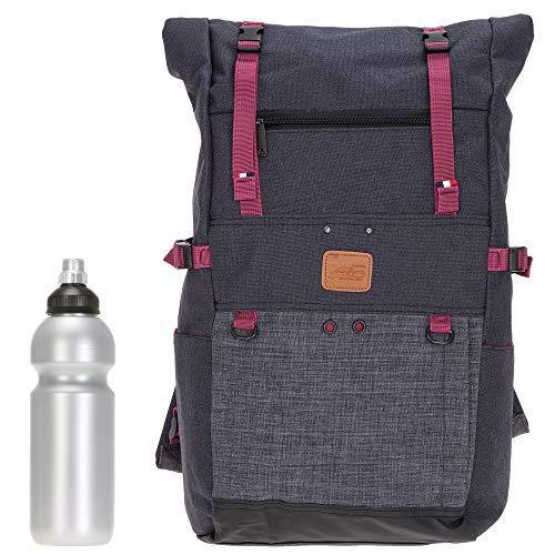 Rucksack Kurierrucksack New Rebels Vintage Max 51.1153 Männer Damen Backpack + Flasche (Dunkelgrau GRAU 00)