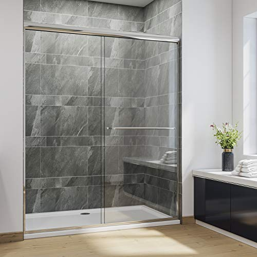 SUNNY SHOWER Glass Door Semi Frameless Sliding...