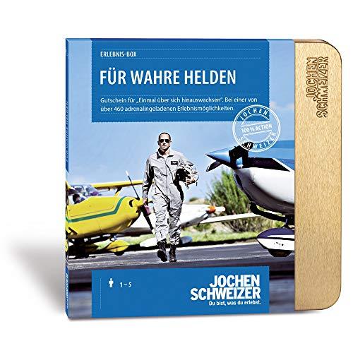 Jochen Schweizer Erlebnis-Box 'FÜR WAHRE Helden', mehr als 460 Erlebnisse für 1-2 Personen, Gutschein für Männer