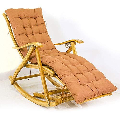 MRZHW Liegestuhl Verstellbar Sonnenliege Mit Rückenlehne Fußteil klappbar Gartenstuhl Bambus Umweltschutz Strandliege Für Terrasse Innenhof Balkon-Stuhl + Matte C