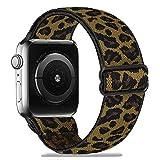 Zoholl - Pulsera elástica compatible con Apple Watch de 38 mm/40 mm/42 mm/44 mm, cómoda, suave, deportiva, para Mujeres y Hombres, de repuesto, para Serie 1/2/3/4/5/6/SE/Sport/+/Edition