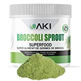 AKI Natural Broccoli Sprout Powder, Rich in Vitamins & Antioxidant Sulforaphane Supplement | Ideal Superfood for Greens Veggie Smoothie Beverage or Meal, NON-GMO (5.29oz / 150g)