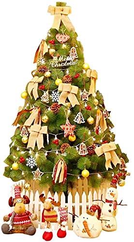 Inicio Equipamiento Árbol de Navidad Decoraciones navideñas Exterior Interior Árbol de Navidad artificial Iluminado Árbol de pino de Navidad Decoración navideña con luces LED Soporte de metal Fácil