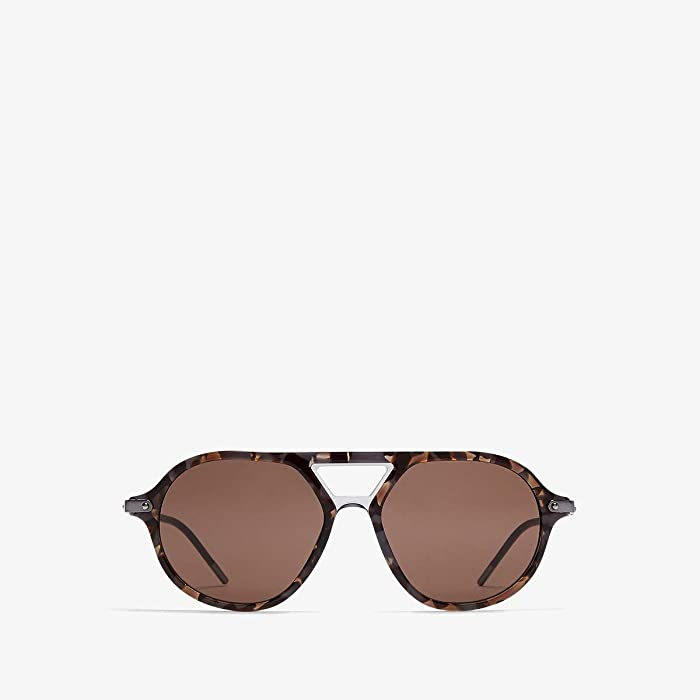 Dolce and Gabbana  DG4343 (Top Grey Havana/Grey Transparent/Brown) Fashion Sunglasses