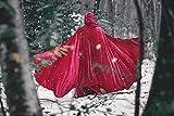 Rotkäppchen Mittelalterlicher Kapuzenumhang mit runder Strecken Samt Cape Kostüm Fairytale