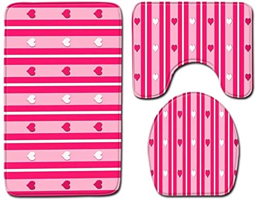 JTLiChunLins Mat Anti-slip Toilet Stoel Cover Mat Badkamer Matten Badkamer Tapijten en Matten Sets 3-Stuks voor badkamer
