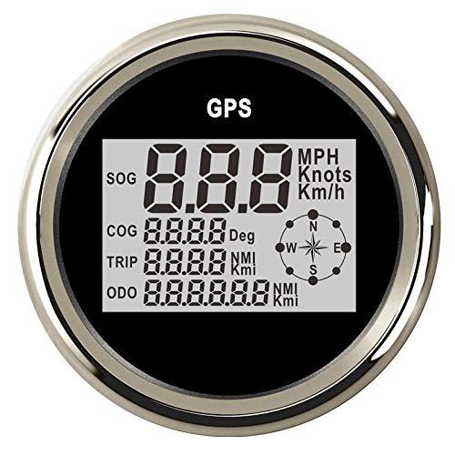 Velocímetro cuentakilómetros 85 mm digital GPS Velocímetro cuentakilómetros del coche 0~999Knots kmh...