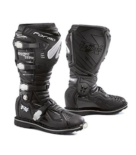 FORMA Botas de Moto Terrain TX Enduro Homologado CE, Negro, 42