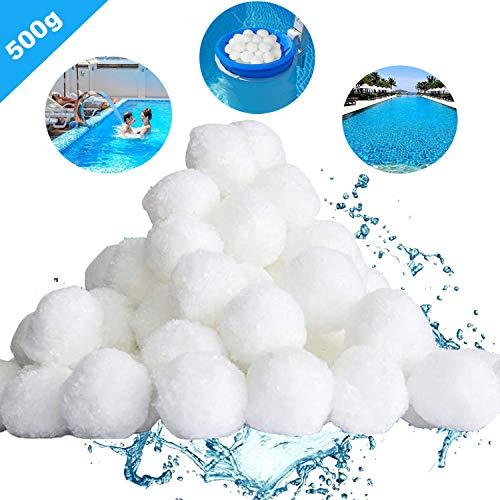 Gxhong Filter Balls, 500G/700G Pool Filter Balls, Hohe Wasserdurchlässigkeit Filtermaterial für Poolpumpe, Filtersand für Pool Sandfilter (500g)