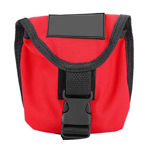 Demeras Bolsa de lastre de Buceo 2KG Bolsillo del cinturón de lastre de Buceo Bolsillo de lastre de Buceo Impermeable con Hebilla de liberación rápida(Rojo)