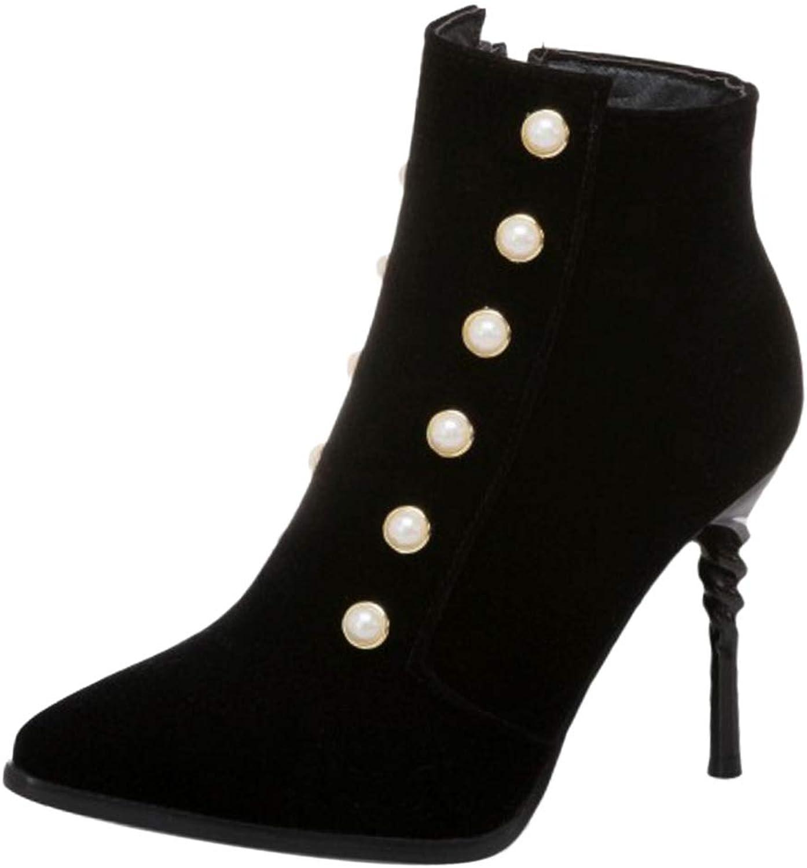 KemeKiss Women Fashion High Heel Low Boots Zip