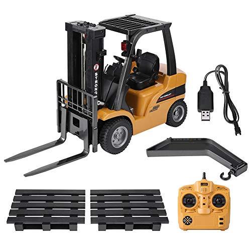 Zouminyy RC camión eléctrico Modelo de Control Remoto Carretilla elevadora ingeniería vehículo