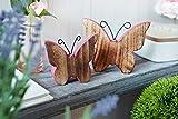 HEITMANN DECO – Schmetterlinge aus Holz rosa bemalt – Deko-Figuren für Oster-Deko und Tisch-Deko – 2er Dekoset - 2
