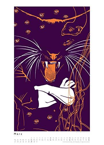 Kat Menschik illustriert Weltliteratur – Literarischer Posterkalender in Bildern 2020 – Wand-Kalender von DUMONT – Format 49,5 x 68,5 cm - 5