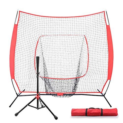 CN-WSC Baseball Netz Trainingsnetz Baseball Netz Pitching, Baseball Übungsnetz Softball Training Net Tragbares Outdoor-Baseballtrainings-Trainingszielnetz (7×7ft)