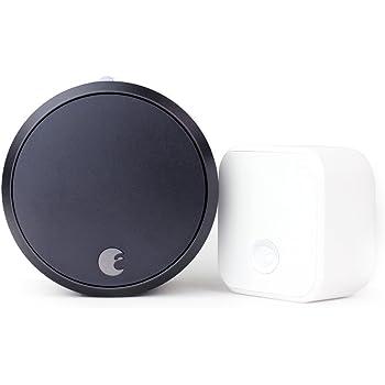August Smart Lock Pro (3rd Gen) + Connect Hub - Zwave, HomeKit & Alexa Compatible - Gray