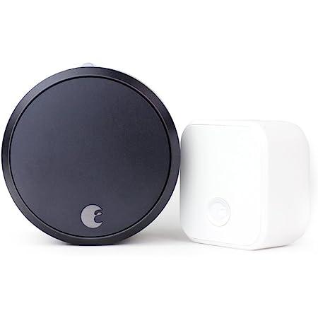 August Smart Lock Pro (3rd Gen) + Connect Hub - Zwave, Home Kit & Alexa Compatible - Gray