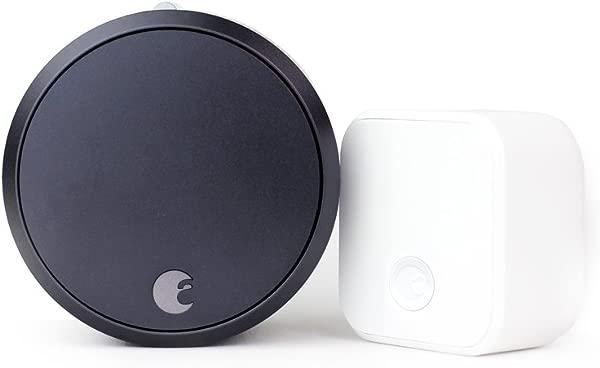 August Smart Lock Pro Connect 3rd Gen Technology Dark Gray Works With Alexa