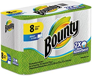 Bounty Select-a-Size Perforated Roll Towels, 2-Ply, White, 6 x 11, 70/Roll - Includes eight per pack.