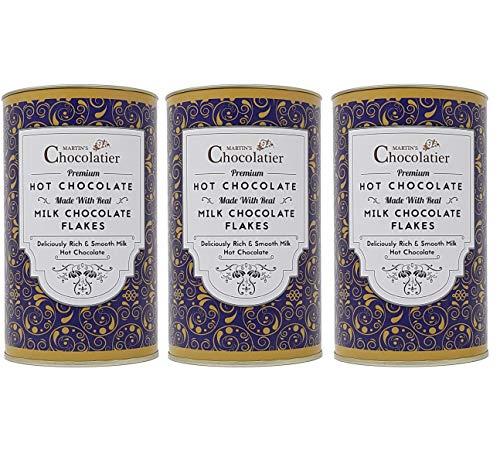 Martins Chocolatier   3 Pack   Milk Hot Chocolate Flakes Luxe Drinking Chocolate Gemaakt van Real Belgian Chocolate…