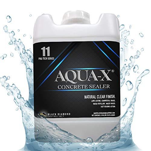 5 Gallon AQUA-X 11 Clear, Penetrating Concrete Sealer – Mold and Mildew Inhibitor