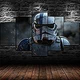 IIIUHU Bilder Abstrakt 5 Teilig Wandbild XXL Star Wars
