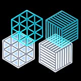 2 Pcs Resin Coaster Molds DIY Silicone Molds Hollow Geometric Hexagon Epoxy Casting Molds for Resin, Concrete, Cement Making Coasters Home Decoration