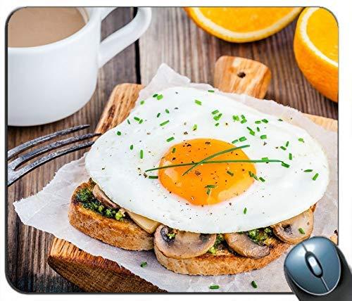 Frühstück Toast Ei Kaffee Orangen Personalisierte Rechteck Maus Pad Maus Matte