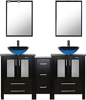 Amazon Com Two Sinks Bathroom Vanities Bathroom Sink Vanities