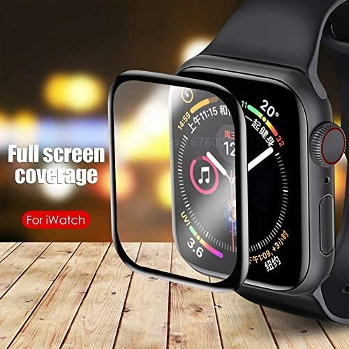 LULLABY IWatch Series 4 5 6 44MM Latest Generation Curvy boder Glass membran PMMA Film Matte with Built in 9H Hardness Tempered Glass Screen Protector for iwatch 44MM