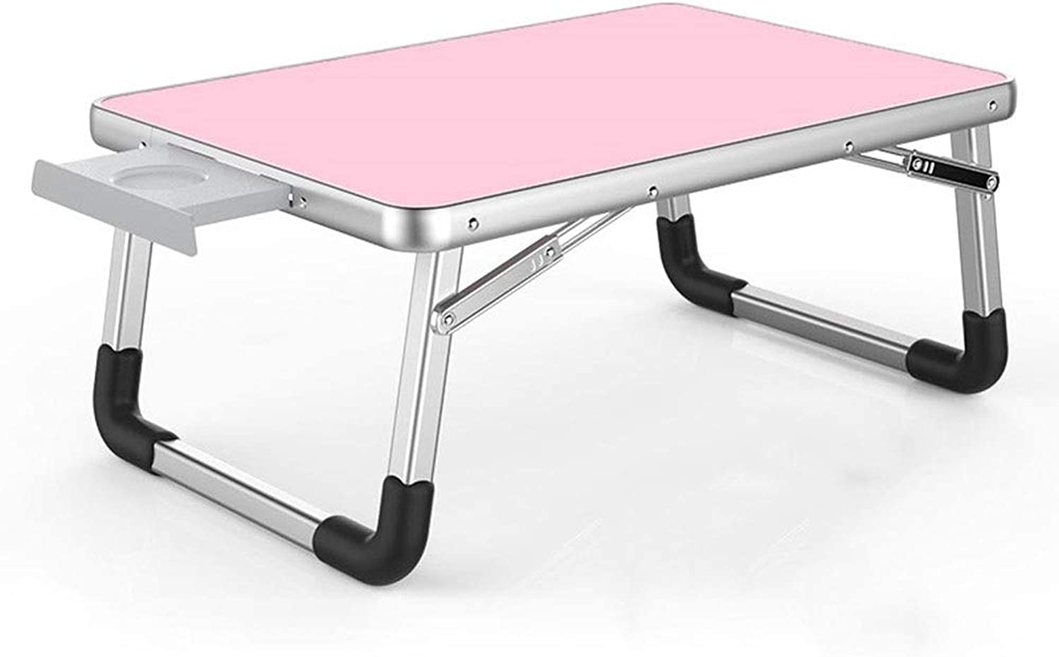 Portable Bed Laptop Table Coffee   Breakfast   Writing   Learning   Reading Multifunction Foldable Small Table L60×W40cm GW (color   Pink)