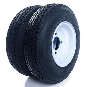 """2PCS 8"""" White Spoke Tires & Rims 4.80"""