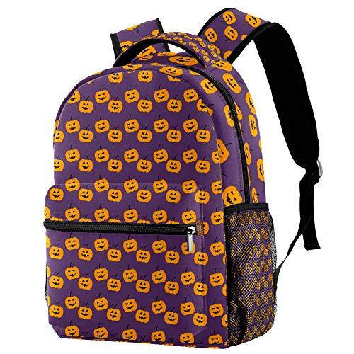 Halloween Pumpkin Personalised School Bag for Boys and Girls - Kids School Backpack - Childrens rucksacks for Boys and Girls