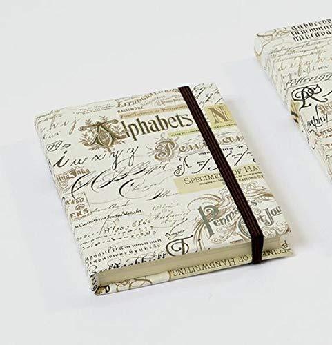 Kartos Luxuriöses, italienisches Notizbuch, Schreibwaren, gestreiftes Papier, Calligraphy