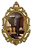 QHHALXZ Espejo de Maquillaje Espejo de Pared Decorativo, Espejos de Maquillaje ovalados tallados Vintage para decoración de Pared de tocador de Dormitorio de baño, Espejo de baño de 39 x 60