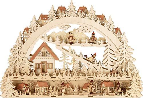 XL-Leuchter Schwibbögen Winterlandschaft 64 x 44cm mit LED