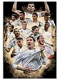 JYSHC Jigsaw Puzzles 1000 Piezas De Madera Montaje De Imagen Cartel del Equipo del Real Madrid Juegos para Adultos Juguetes Educativos Fe920Jw