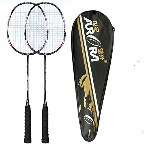Buy and buy at Brandon Badminton Racket Carbon Fiber Badminton Racket Two Packs Amateur Primary Badminton RacketBlackA