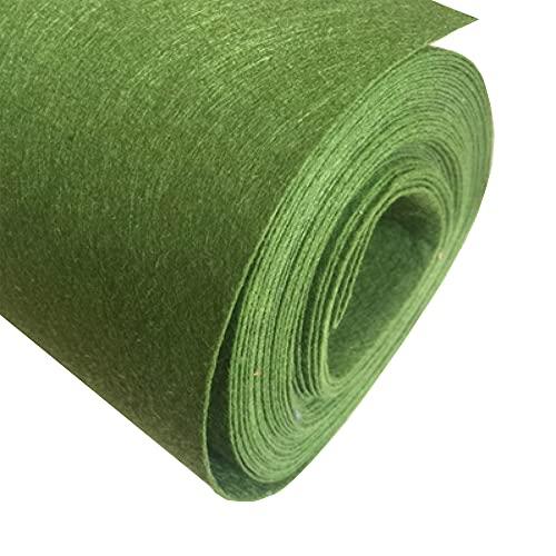 JUANJAUN Hojas De Fieltro, Tela De Hojas De Fieltro Artesanal por Metro Material para Coser Decoraciones Bordadas para Manualidades De Bricolaje Cuadrados No Tejidos(Size:5mm,Color:No. 2 Army Green)
