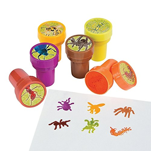 Elfen und Zwerge 6 x tolle Insekten Stempel Kinderstempel Insektenstempel Geburtstag Kindergeburtstag Mitgebsel Spinne Wespe Käfer Ameise Wurm Biene Gottesanbeterin