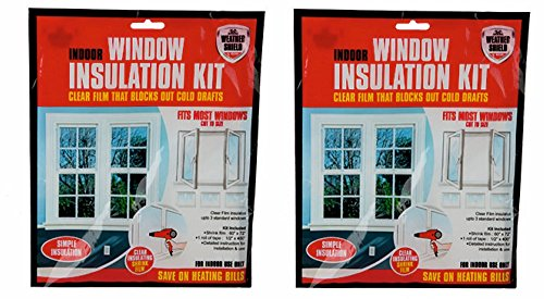 Weathershield Indoor Window Insulation Kit, Clear film that blocks out cold...