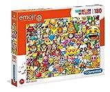 Clementoni- Emoji Puzzle Suelo, 180 Piezas, Multicolor, 180pezzi (29756)